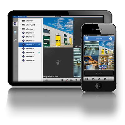 Special Android & iPhone apps that connect to CCTV software