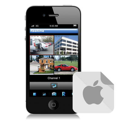 iPhone or IPad apps for alienDVR, ZipNVR and ZipDVR CCTV systems